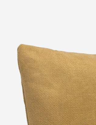 Lulu & Georgia Ines Belgian Linen Lumbar Pillow, Mustard
