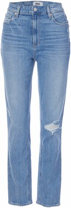 Paige Women's Sarah Vintage Stretch High Rise Slim Fit Straight Leg Ankle Jean