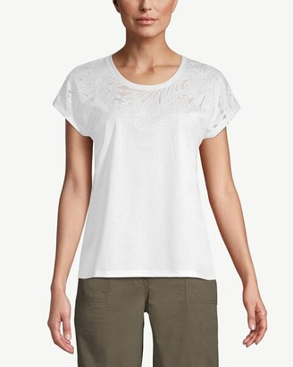 Chico's Short-Sleeve Laser-Cut Foral Tee