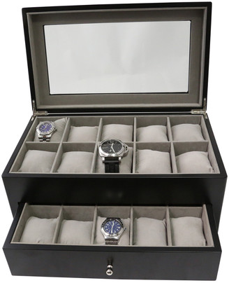 Bey-Berk Bey Berk Matte Black Wood Watch Case