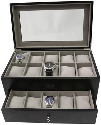 Bey-Berk Matte Black Wood Watch Case