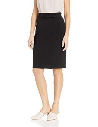 Nine West Women's Belted Stretch Crepe Slim Skirt