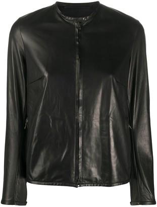 Salvatore Santoro Collarless Zip-Up Jacket