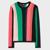 Paul Smith Women's Mixed-Crochet Striped Cotton Sweater