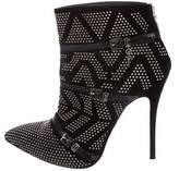 Cesare Paciotti Suede Embellished Ankle Boots