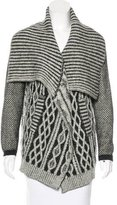 Yigal Azrouel Cable Knit Open-Front Cardigan