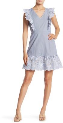 Sugar Lips Ruffle Sleeve Embroidered Dress