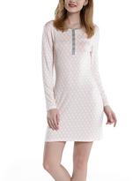 Pink & Gray Geometric Henley Nightgown