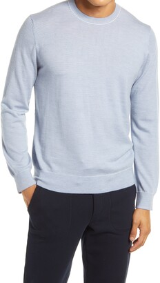 Vince Men's Crewneck Pinstripe Wool & Cashmere Sweater