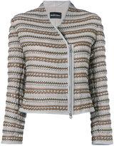 Emporio Armani scalloped detail jacket