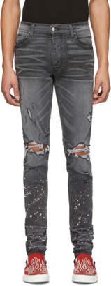 Amiri Grey Bleach Splatter Jeans