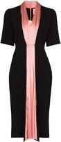 Roksanda Two Tone Fitted Midi Dress