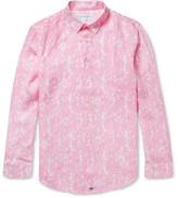 Pink House Mustique - Floral-print Linen Shirt - Pink