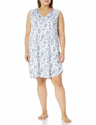 Karen Neuburger Women's Plus Size Sleeveless Lounge Sleepshirt Pajama Pj