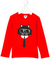 Karl Lagerfeld Choupette long-sleeved top - kids - Cotton - 2 yrs