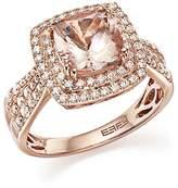 Bloomingdale's Morganite Statement Ring with Diamonds in 14K Rose Gold