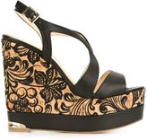 Paloma Barceló embroidered cork 'Ophelie' sandals