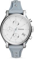 Fossil Original Boyfriend Chronograph Smokey Blue Leather Watch