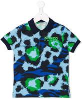 Kenzo tiger stripes polo shirt