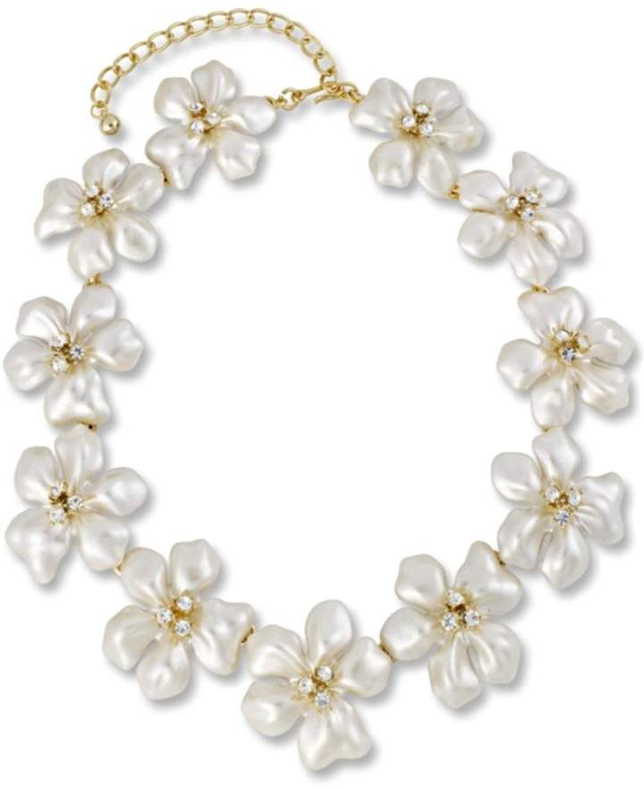 Kenneth Jay Lane Pearl Flower Necklace