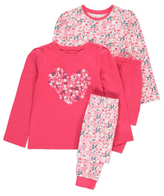 George 2 Pack Floral Pyjamas