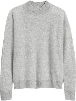 Banana Republic Brushed Cashmere Mock-Neck Sweater