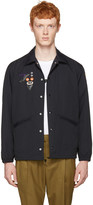 Toga Virilis Black Nylon Embroidered Jacket