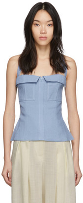 Jacquemus Blue Le Haut Jacques Tank Top