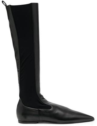 Jil Sander Knee-Length Leather Boots