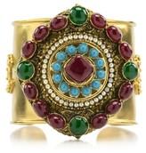 Chanel Gold Tone Ultra Gripoix Cuff Bracelet
