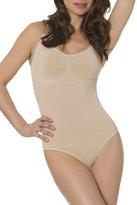 N-Fini Women's Lycra Cami Bodysuit Shapewear Wire Free Bra Full Bottom Panty L