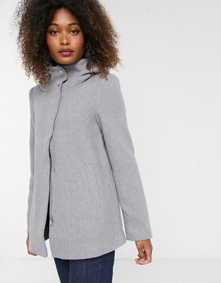 Vero Moda hooded wool coat-Grey