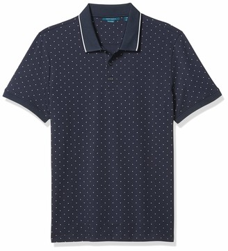 Perry Ellis Men's Pima Cotton Arrow Print Short Sleeve Polo Shirt