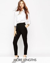 Asos High Waist Pants in Twill with Zips