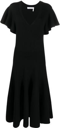 Chloé V-neck knitted dress