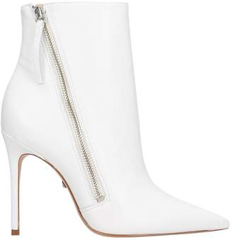 Schutz High Heels Ankle Boots In White Leather