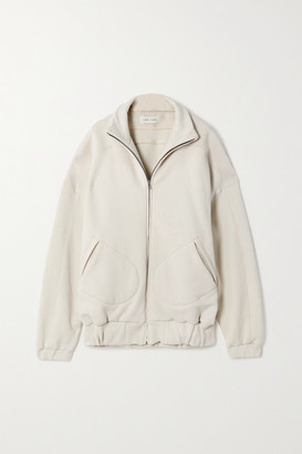 LES TIEN Cotton-jersey Track Jacket - Ivory