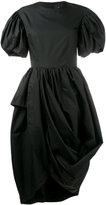 Simone Rocha puff sleeve asymmetric dress - women - Cotton - 8