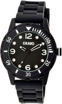 Crayo Unisex Splash Black Strap Watch Cracr2202