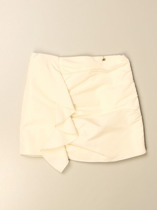 Elisabetta Franchi Skirt In Taffeta With Maxi Rouches