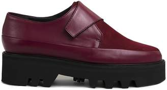 Unreal Fields Wrap Up - Bordeaux Leather Platform Creepers