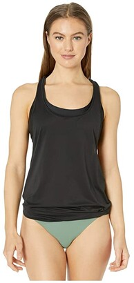 Prana Laria Tankini Top (Black) Women's Swimwear