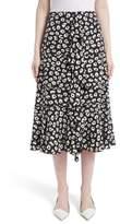 Proenza Schouler Women's Ruffle Print Silk Midi Skirt