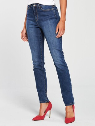 Very Short Isabelle High Rise Slim Leg Jeans - Mid Wash