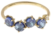 Suzanne Kalan Gold English Blue Topaz Ring