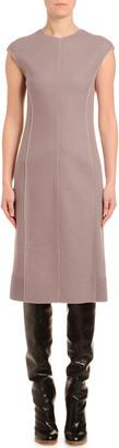 Agnona Cashmere-Jersey Cap-Sleeve Pencil Dress