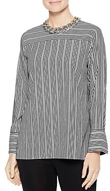 Misook Cross Stripe Blouse