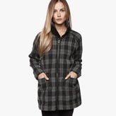 James Perse Plaid Parka Coat