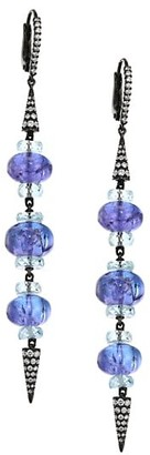 Etho Maria Misty Rhodium-Dipped 18K White Gold & Tanzanite Spear Drop Earrings