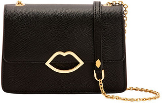 Lulu Guinness Black Cut Out Lip Polly